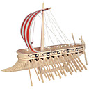 Buy Jigsaw Puzzles DIY KIT Building Blocks 3D Educational Phoenicia Warship Wooden Toys