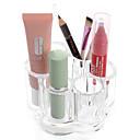 Buy Acrylic Transparent Portable Flower Shaped Cosmetics Makeup Storage Stand Brush Pot Cosmetic Organizer Lipstick Eyeliner Pen Nail Polish