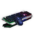 Buy USB Gaming Backlights Key Illumination Keyboard 2500DPI Cracking Mouse 2 Pieces Kit