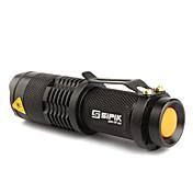 Linternas LED Linternas de Mano LED 200 Lumens 1 Modo Cree XR-E Q5 14500 AA Enfoque Ajustable Recargable Táctico Super Ligero Tamaño