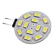 1.5w g4 led 스포트 라이트 12 smd 5730 200lm 자연 흰색 dc 12 v