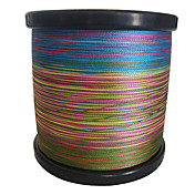 1000M / 1,100 야드 PE 꼰 선 / Dyneema 낚시줄 그린 / 오렌지 / 옐로우 / 퍼플 / 퓨샤 / 레드 / 블루 / 다양한 색상8 파운드 / 10LB / 20LB / 25LB / 30LB / 35LB / 40LB / 50LB /