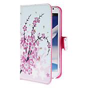 Für Samsung Galaxy Note Kreditkartenfächer / mit Halterung / Flipbare Hülle / Muster Hülle Handyhülle für das ganze Handy Hülle BlumePU -