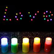 Coloreada vela con forma de luz de la noche DIY (5 piezas)
