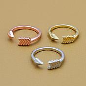 반지 일상 보석류 합금 문자 반지조절가능 골든 / 로즈 / 실버