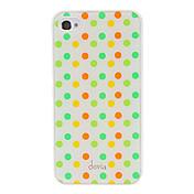 iPhone 4/4S를위한 편차 간결한 다채로운 둥근 점 무늬 매끄러운 표면 PC 단단한 상자