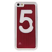 Número Cinco Feature Pure Color Contacto Cambiar Caso Luz LED para iPhone5C