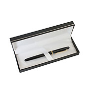 개인화 된 아버지의 날 선물 검정 고전 금속 검정 잉크 젤 펜