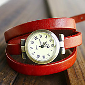 Mujer Reloj de Moda Reloj Pulsera Cuarzo PU Banda Bohemio Negro Azul Rojo Naranja Marrón Verde Naranja Marrón Rojo Verde Azul