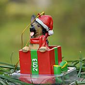 애완 동물 애호가를위한 귀여운 셰퍼드 장식 장식 크리스마스 선물