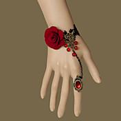 보석류 고딕 로리타 반지 빈티지 스타일 로리타 액세서리 팔찌 반지 레이스 에 대한 우븐 되지 않은 옷감 인공 젬스톤