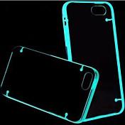 형광 효과 아이폰 4/4S (분류 된 색깔)를위한 투명한 뒤 케이스를 조명 한 후