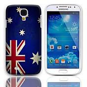 삼성 갤럭시 S4 I9500를위한 3 팩 스크린 프로텍터 빈티지 호주 국기 디자인 단단한 케이스