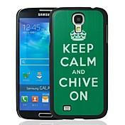 Guarde la calma y la cebolleta en el patrón de la caja protectora dura plástica para i9500 Samsung Galaxy S4