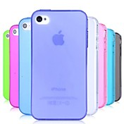 PinkQueen® TPU Dust Proof Soft Case for iPhone 4/4S (Assorted Colors)