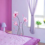 꽃 패턴 벽 스티커 (1PCS)