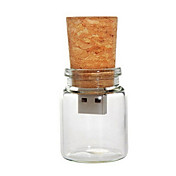 8기가바이트 유리 코르크 USB 플래시 펜 드라이브 병 (투명)