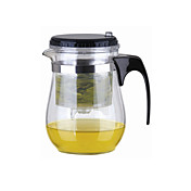 Fácil Push Button Colador Glass Tea Pot Con Lock (500 ml)
