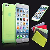 Para Funda iPhone 6 / Funda iPhone 6 Plus Ultrafina / Congelada / Traslúcido Funda Cubierta Trasera Funda Un Color Dura Policarbonato