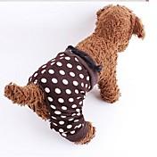 개 바지 브라운 강아지 의류 모든계절/가을 도트 무늬
