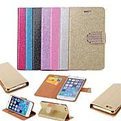 용 아이폰6케이스 / 아이폰6플러스 케이스 지갑 / 카드 홀더 / 스탠드 / 플립 케이스 풀 바디 케이스 글리터 샤인 하드 인조 가죽 iPhone 6s Plus/6 Plus / iPhone 6s/6