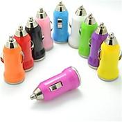 아이폰 및 다른 사람을위한 다채로운 USB 차 충전기 (5V, 1A, 모듬 색상)