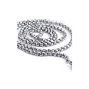 Men's Fashion All Match Circle Titanium Steel Chain Necklace