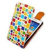 용 삼성 갤럭시 케이스 플립 / 패턴 케이스 풀 바디 케이스 기하학 패턴 인조 가죽 Samsung S2