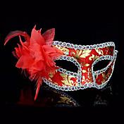 할로윈 깃털 꽃 신비 의상 파티 마스크 (모듬 된 색상)