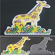 5mm 하마 비즈 DIY 퍼즐에 대한 1PCS 템플릿 분명 퓨즈 구슬 판 위 기린 패턴