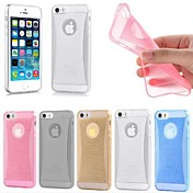 아이폰 6 (모듬 된 색상)에 대한 얇은 크리스탈 빛 부드러운 실리콘 백 커버 케이스 피부