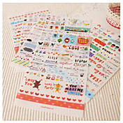 Life Drawing Sticker Set(6 Sheets)