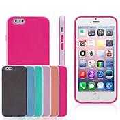 Para Funda iPhone 6 / Funda iPhone 6 Plus Antigolpes Funda Cubierta Trasera Funda Un Color Dura TPU iPhone 6s Plus/6 Plus / iPhone 6s/6