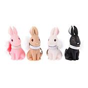 키 체인 Rabbit 카툰 키 체인 블랙 페이드 / 아이보리 / 오렌지 / 카멜 ABS