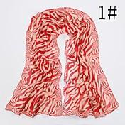 여성의 패션 얼룩말 패턴 스카프