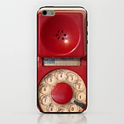 Red Telephone Tube Pattern hard Case for iPhone 6