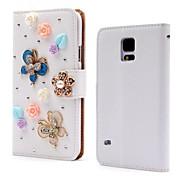 용 Samsung Galaxy Note 카드 홀더 / 크리스탈 / 스탠드 / 플립 / 패턴 케이스 풀 바디 케이스 3D카툰 캐릭터 인조 가죽 Samsung Note 4