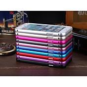 luphie ultrafina de inserción y extracción de aluminio deslizante parachoques del metal para el iPhone 6 Plus (color clasificado)