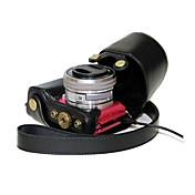 소니 알파 a5100의 ILCE-5,100리터 A5000 ILCE-5000의 NEX-3N에 대한 충전 포트와 pajiatu® PU 가죽 카메라 케이스 가방 커버