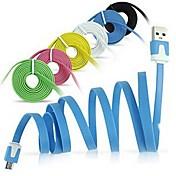 Micro-USB-Nudeln Flach Synchronisierung USB-Datenkabel für Samsung Galaxy Note 4 / S4 / S3 / S2 und Huawei / htc / sony / lg (farblich sortiert)