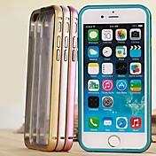 용 아이폰6케이스 / 아이폰6플러스 케이스 충격방지 / 투명 케이스 뒷면 커버 케이스 단색 하드 메탈 iPhone 6s Plus/6 Plus / iPhone 6s/6