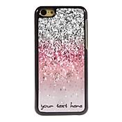 caja del teléfono personalizado - caja de metal de diseño polvo brillante para 5c iphone