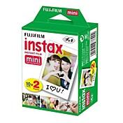 20 Fujifilm Instax Mini paquete de capa doble blanca instantánea
