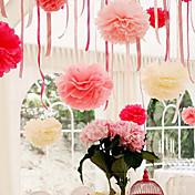 4 인치 휴지 치어 리딩 웨딩 파티 장식 공예 종이 꽃 웨딩 (4 세트)