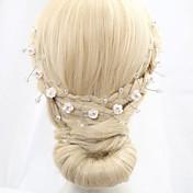 Mujer Niña de flor Celada-Boda Ocasión especial Bandas de cabeza Flores Cadena para la Cabeza Coronas