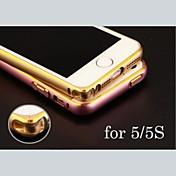 아이폰 5 / 5S (골드, 실버, 블랙, 핑크)에 대한 개인 새겨진 절묘한 금 끈으로 묶인 금속 범퍼 프레임 쉘