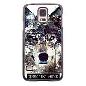개인 전화 케이스 - 삼성 갤럭시 S5 i9600에 대한 빙산 늑대 디자인 금속 케이스
