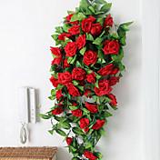 실크 장미 인공 꽃