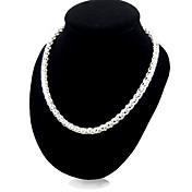 Mujer Collares de cadena Plata de ley joyería de disfraz Joyas Para Fiesta Casual