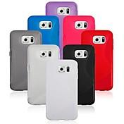 Para Funda Samsung Galaxy Transparente Funda Cubierta Trasera Funda Un Color TPU Samsung S6